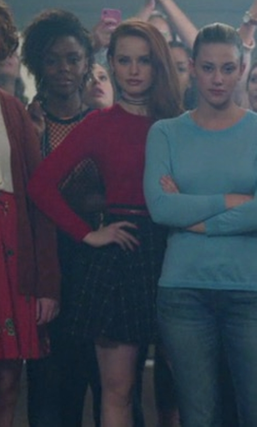 Madelaine Petsch with H&M Circle Skirt in Riverdale