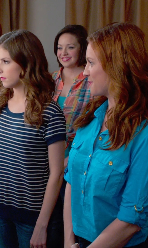 Shelley Regner with Worthington Seamless Tank Top in Pitch Perfect 2