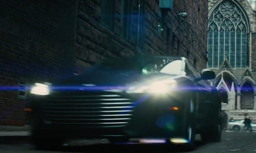 Vin Diesel with Aston Martin Rapide S Sedan in The Last Witch Hunter