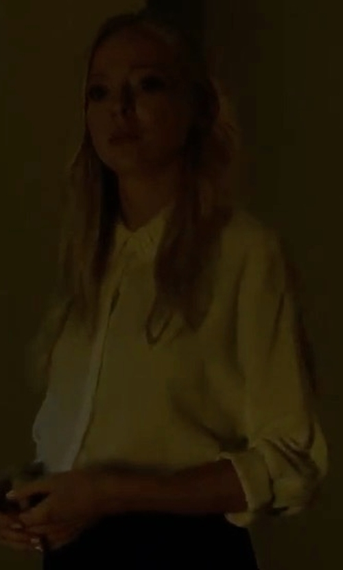 Portia Doubleday with Equipment Essential Silk Blouse in Mr. Robot