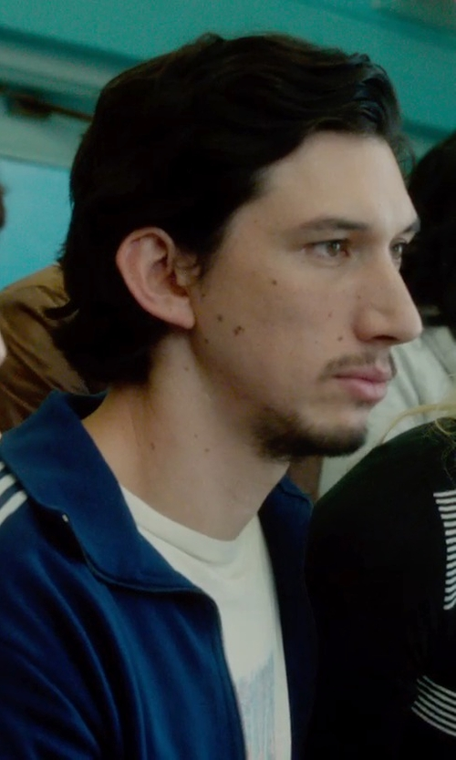 Adam Driver with Adidas Firebird Track Jacket in What If