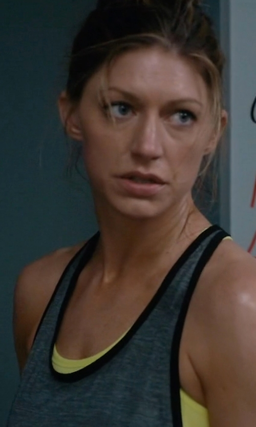 Jes Macallan with Nike Pro Inside Loose Women's Training Tank Top in Mistresses