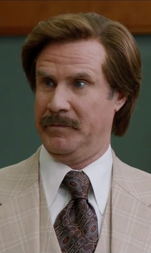 Will Ferrell with Emilio Pucci Vintage Patterned Tie in Anchorman 2: The Legend Continues
