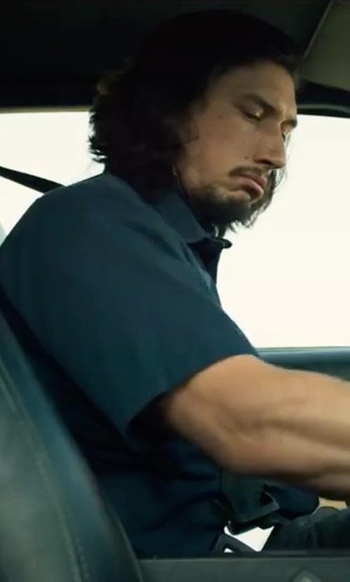 Adam Driver with Peter Millar Seaside Washed Short-Sleeve Shirt in Logan Lucky