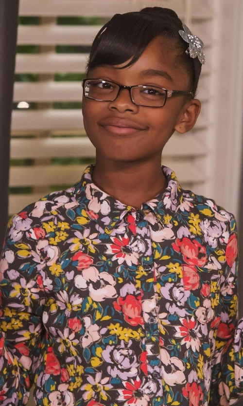 Marsai Martin with Cherokee Floral Dress in Black-ish