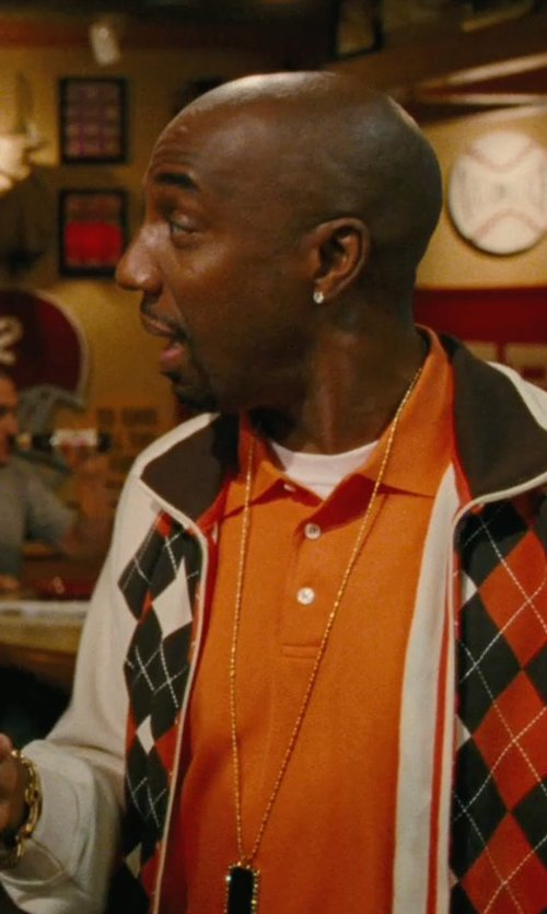 J.B. Smoove with Overstock 10k Gold Birthstone Dog Tag Necklace in Hall Pass