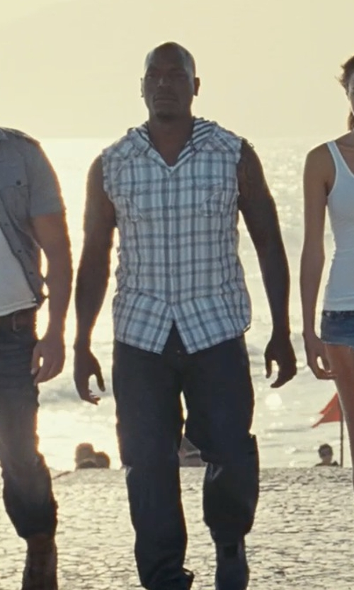 Tyrese Gibson with Levi's Vintage Clothing 505 Dry Selvedge Denim Jeans in Fast Five