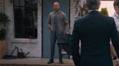 Jason Statham with Tom Ford O'Connor Base Textured Trousers in The Fate of the Furious