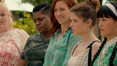 Ester Dean with Vero Moda Camo T-Shirt in Pitch Perfect 2