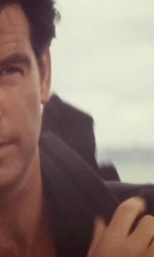 Pierce Brosnan with The Kooples Faille Slim Fit Button Down Shirt in Tomorrow Never Dies