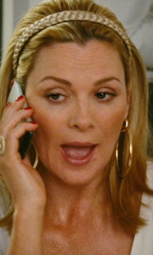 Kim Cattrall with Iceberg V Neck Blouse in Sex and the City