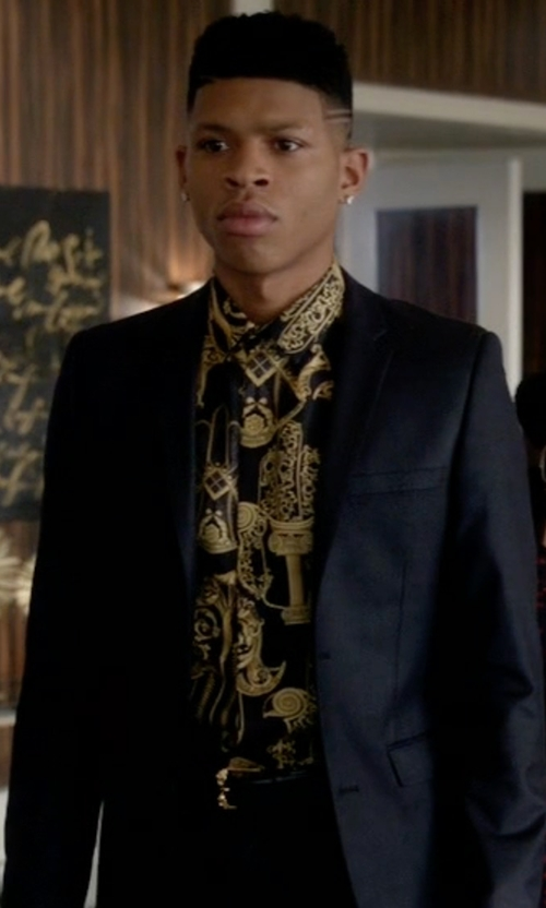 Bryshere Y. Gray with Versace Printed Button Down Shirt in Empire