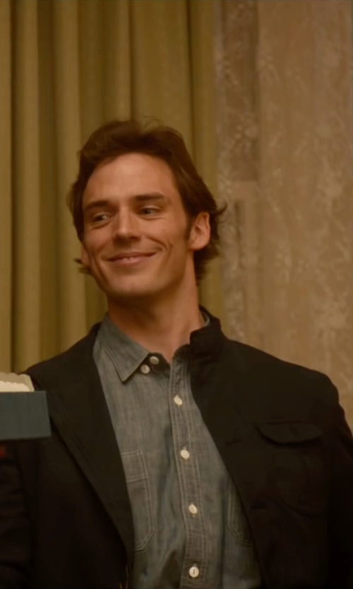Sam Claflin with H&M Shirt Jacket in Me Before You
