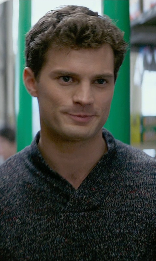 Jamie Dornan with Tommy Bahama Kingside Cable Knit Sweater in Fifty Shades of Grey
