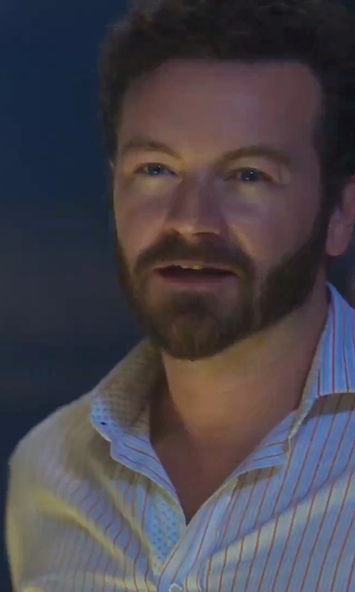 Danny Masterson with Brooks Brothers Stripe Shirt in Urge