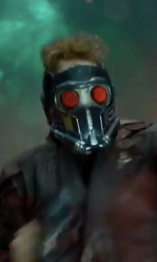 Chris Pratt with Alexandra Byrne (Costume Designer) Custom Made Star Lord's Mask in Guardians of the Galaxy Vol. 2