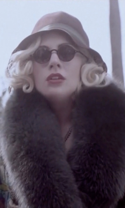 Lady Gaga with MARC by Marc Jacobs	 Round Acetate Sunglasses in American Horror Story