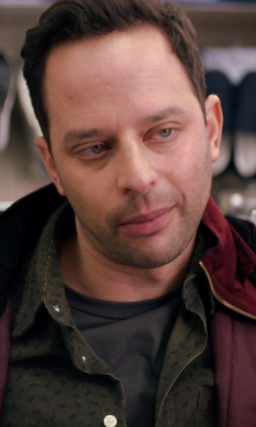 Nick Kroll with American Apparel Crew Neck T-Shirt in Adult Beginners