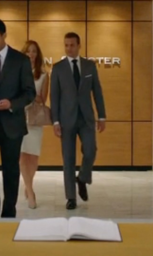 Gabriel Macht with Costume National Plain Toe Oxford Shoes in Suits