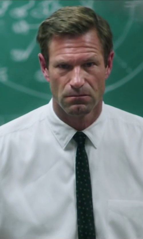 Aaron Eckhart with Eddie Bauer Relaxed Fit Pinpoint Oxford Shirt in My All American