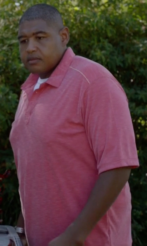 Omar Benson Miller with Peter Millar Fran Jacquard Cotton Lisle Polo Shirt in Ballers