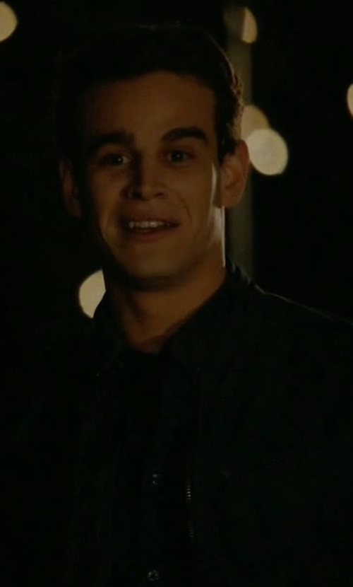 Alberto Rosende with G-Star Riley Dark Aged Zip Up Jacket in Shadowhunters