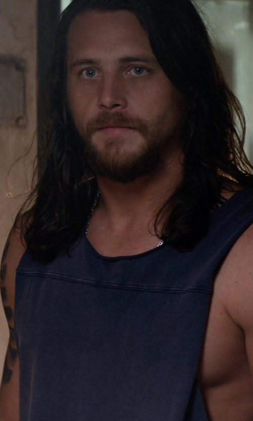 Ben Robson with Alternative Apparel Keeper Vintage Muscle Tank Top in Animal Kingdom