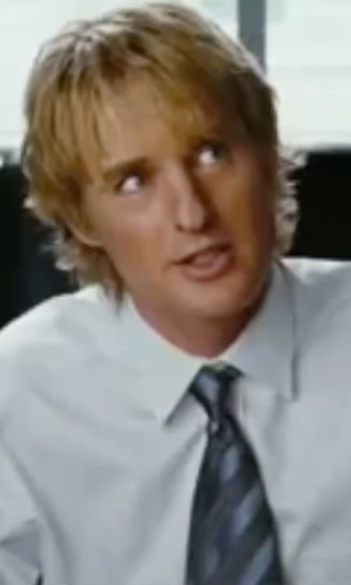 Owen Wilson with Brooks Brothers Textured Split Stripe Tie in Wedding Crashers