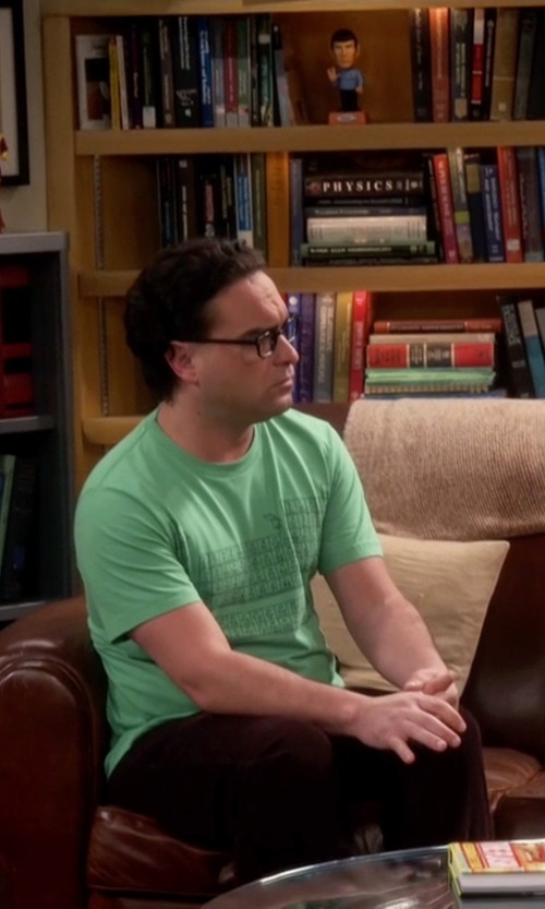 Johnny Galecki with Calvin Klein Jeans Slim Straight Jeans in The Big Bang Theory