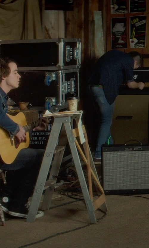 Jamie Blackley with Fender Hot Rod Deluxe Guitar Amplifier in If I Stay