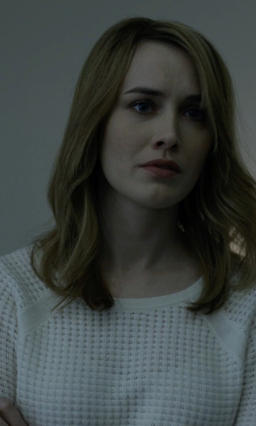 Dominique McElligott with Carven Knit Pullover Sweater in House of Cards