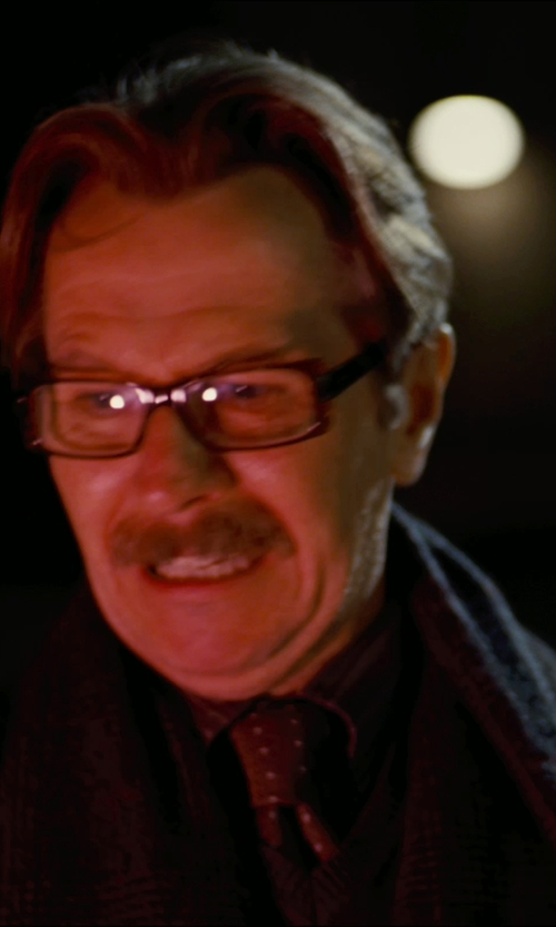 Gary Oldman with Nordstrom Woven Silk Tie in The Dark Knight Rises