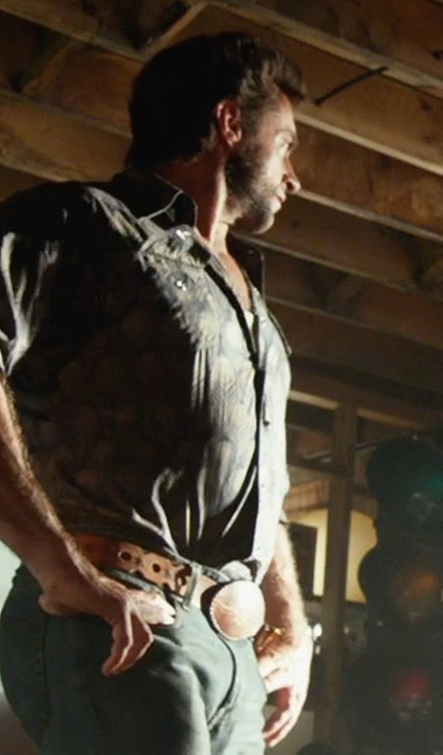 Hugh Jackman with Logan's Closet Future Past Belt in X-Men: Days of Future Past