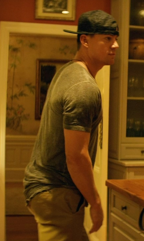 Channing Tatum with True Religion Corduroy Pants in Magic Mike XXL