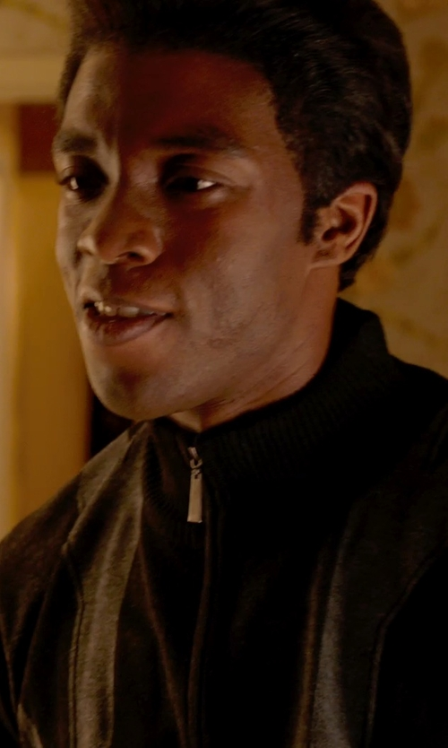 Chadwick Boseman with Dolce & Gabbana Checked Padded Jacket in Get On Up