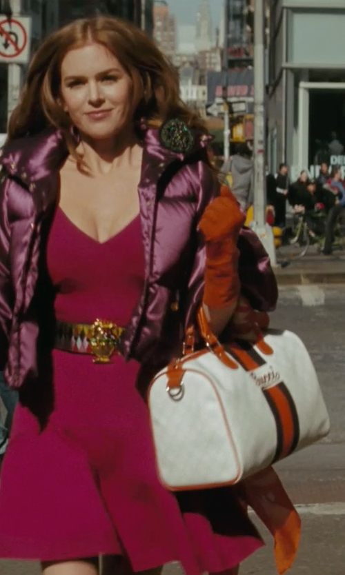 Isla Fisher with Donni Charm Grateful Dead Steal Your Face Scarf in Confessions of a Shopaholic