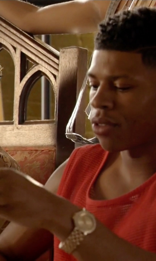 Bryshere Y. Gray with AX Armani Exchange Diamond Marker Bracelet Watch in Empire