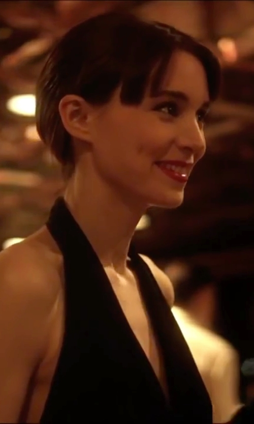 Rooney Mara with Jill Jill Stuart Deep V Halter Gown in Side Effects