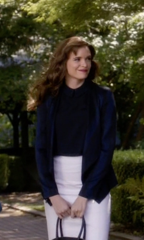 Danielle Panabaker with Talbots Winter Velvet Blazer in The Flash