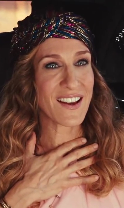Sarah Jessica Parker with Vintage Sequin Turban Headband Selected by Patricia Field (Costume Designer) in Sex and the City 2