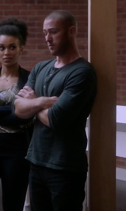 Jake McLaughlin with A.P.C.  Petit Standard Jeans in Quantico