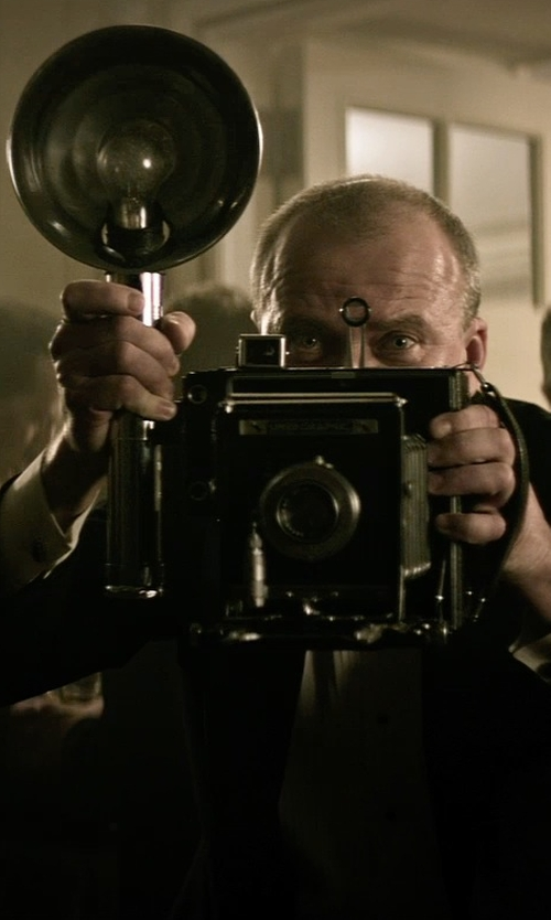 Yaroslav Poverlo with Graflex Anniversary Speed Graphic Camera in The Age of Adaline