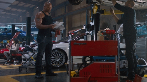 Dwayne Johnson with Under Armour Valsetz RTS Tactical Boots in The Fate of the Furious