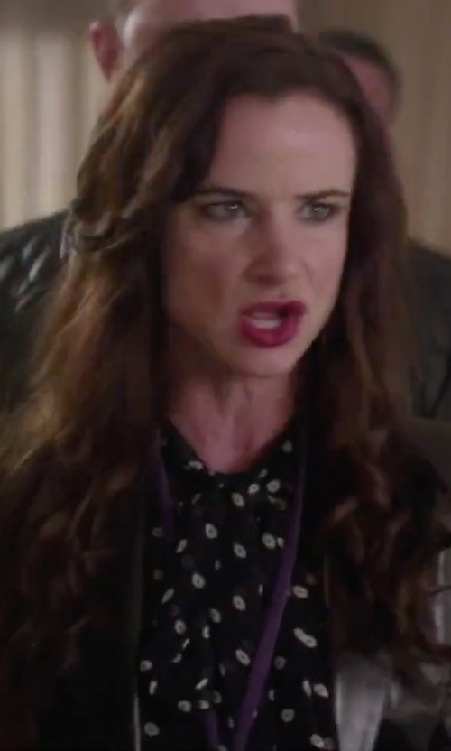 Juliette Lewis with Invanka Trump Tie-Neck Blouse in Jem and the Holograms
