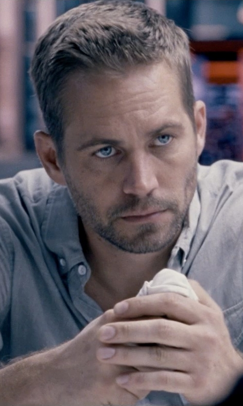 Paul Walker with Gilded Age Flight Shirt in Fast & Furious 6