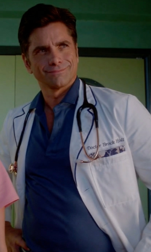 John Stamos with Scotch & Soda Dress Polo Shirt in Scream Queens