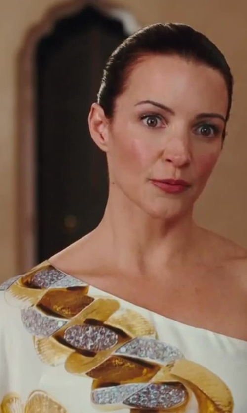 Kristin Davis with Roberto Cavalli Chain-Print Silk Top in Sex and the City 2