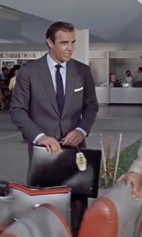 Sean Connery with The Men's Store at Bloomingdale's Solid Satin Skinny Tie in Dr. No