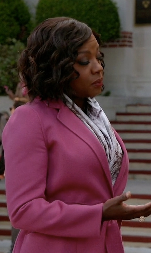Viola Davis with Max Mara Wool And Angora Coat in How To Get Away With Murder