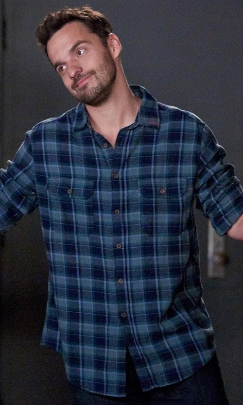 Jake Johnson with Mossimo Supply Co. Flannel Button Down Shirt in New Girl
